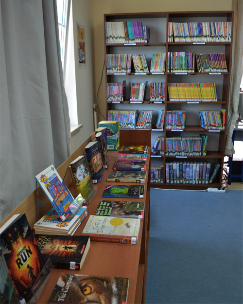 Featured books and the series shelf