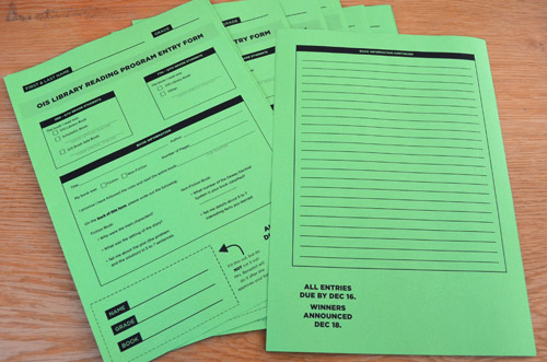 Reading Program Entry Forms
