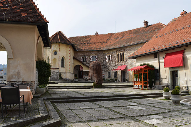 Bled Castle Courtyard