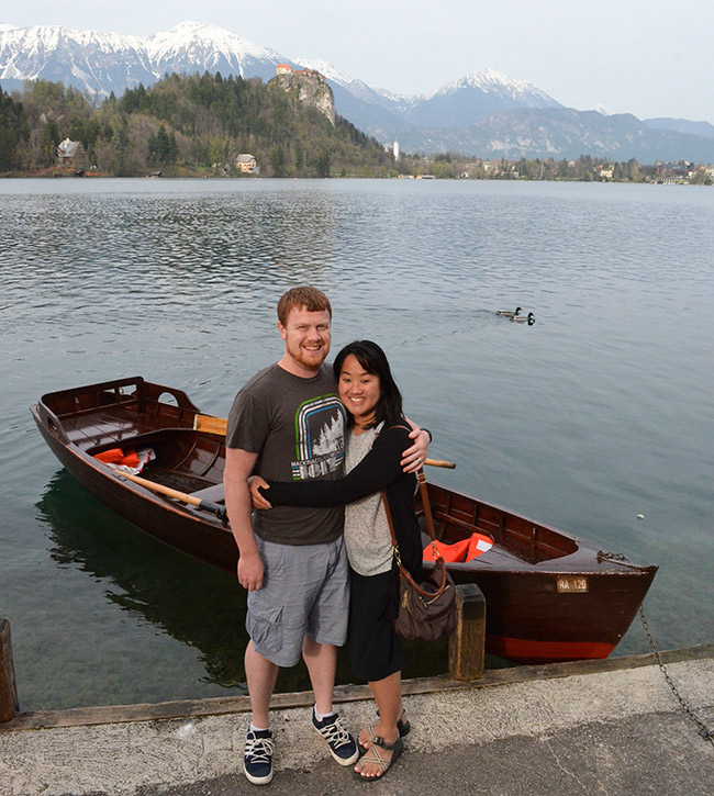 Row boat on Bled Island