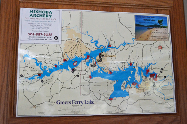 Greers Ferry Lake map
