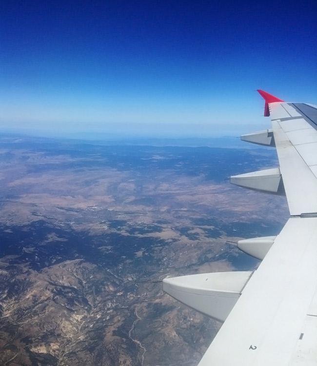 View from airplane of Turkey