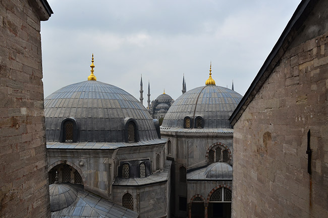 View of Blue Mosque from Hagia Sofia