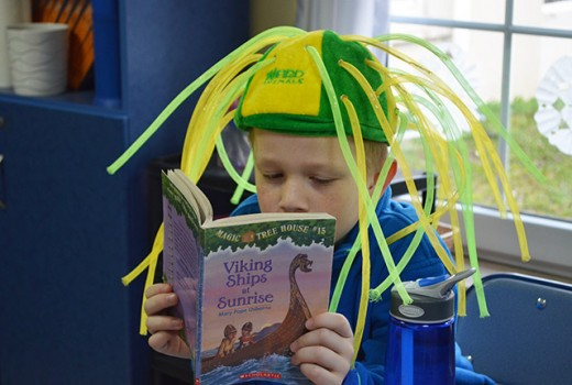 Reading on hat day