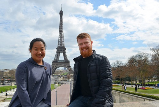 Us with the Eiffel Tower