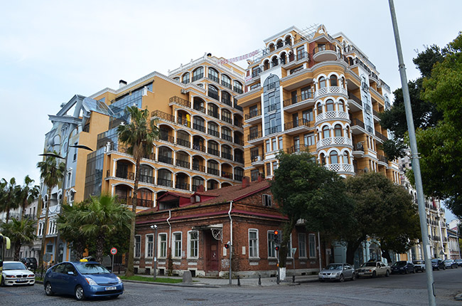 Batumi buildings, old and new