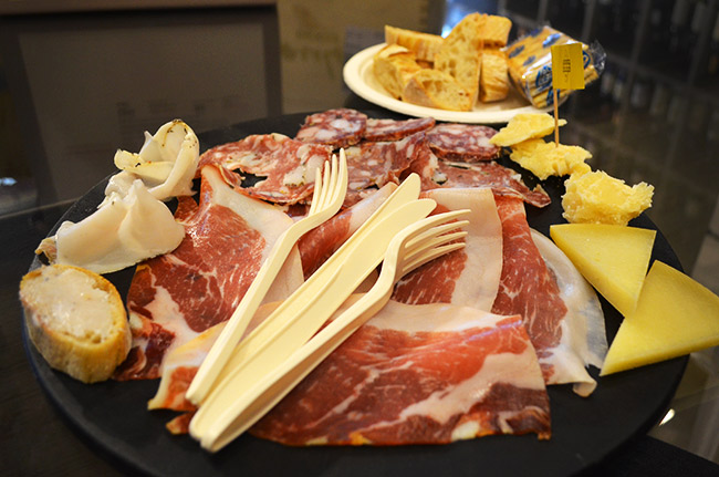 Cheese and meat plate
