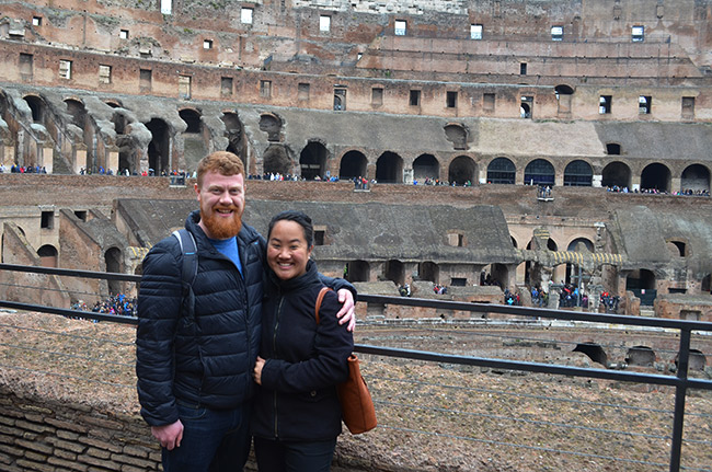 David and Leah in Colosseum