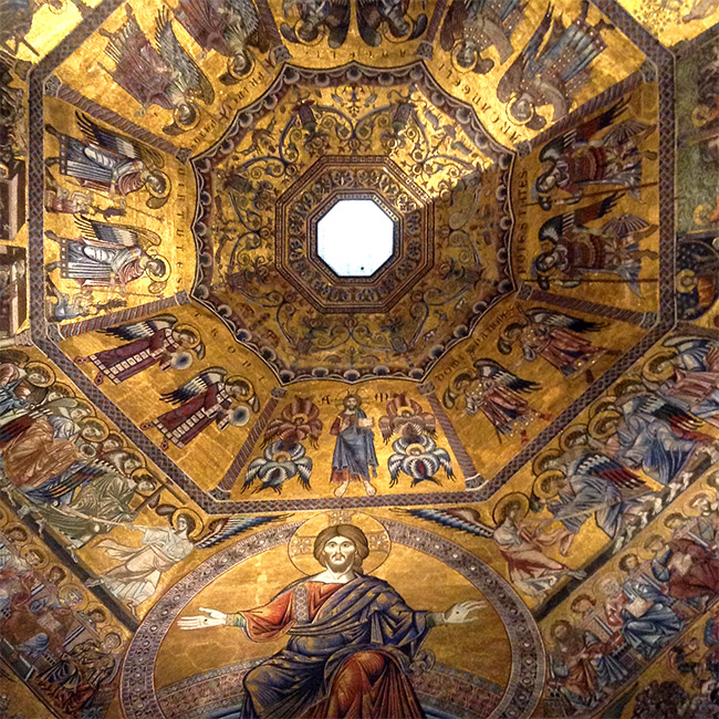 Duomo baptistry ceiling