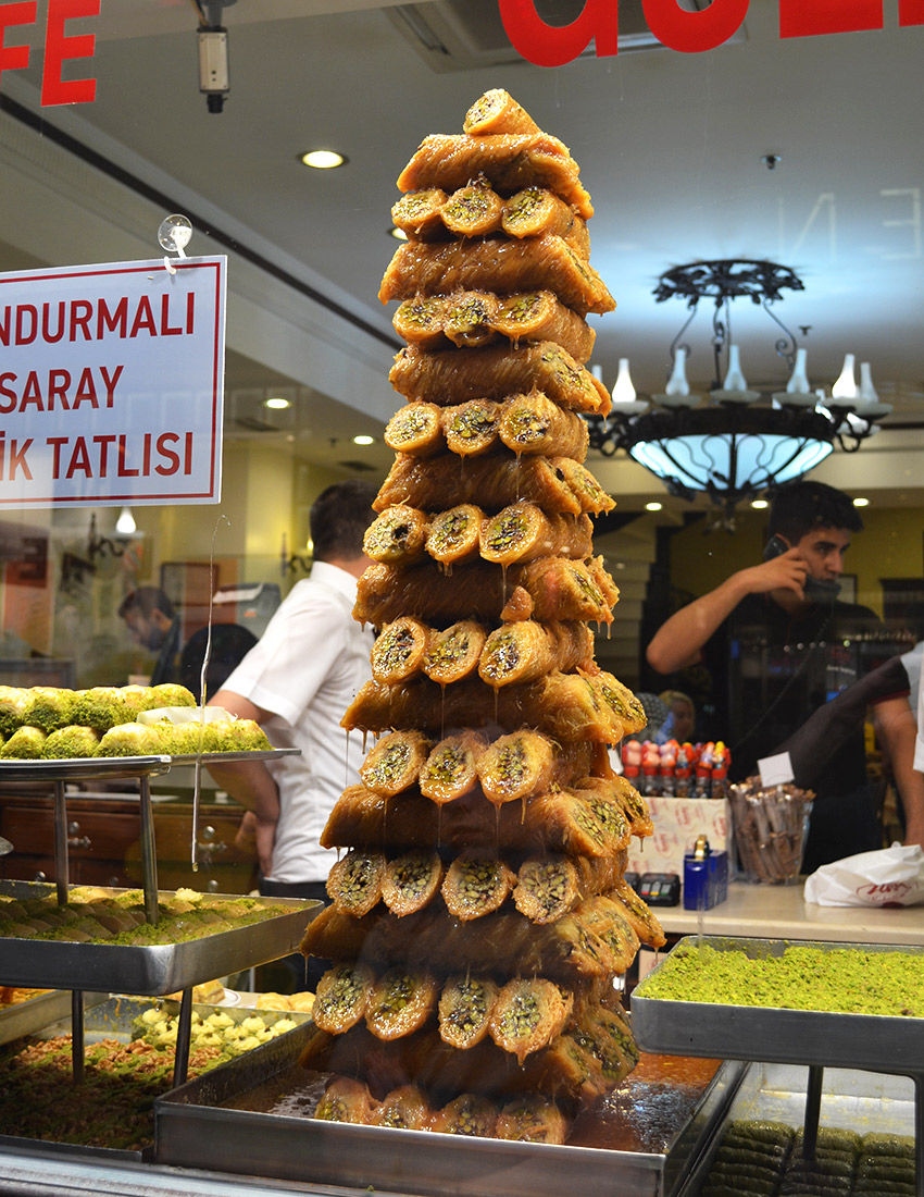 Stack of Turkish Bakalava