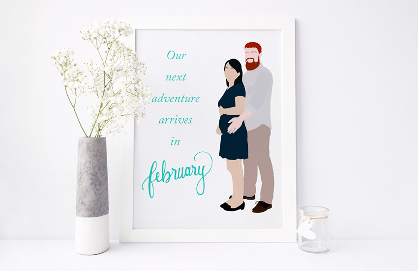We are expecting our first child in February!